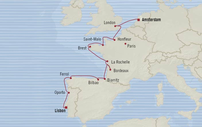 Oceania Cruises - 12-Nights from Amsterdam to Lisbon Cruise on Oceania ...