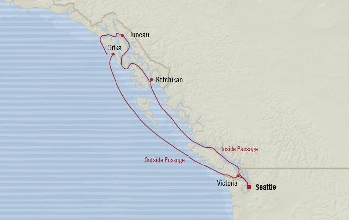 Oceania Cruises | 7-Nights Roundtrip from Seattle Cruise Iinerary Map
